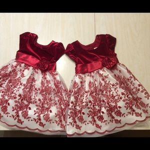 $30 for two twin girl 24 month / 2 T dresses!